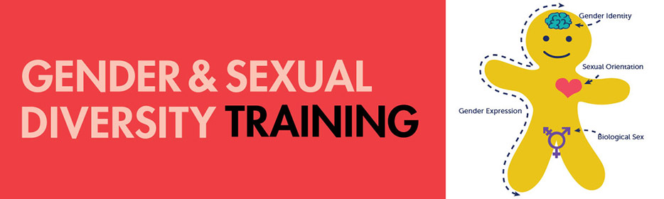banner image featuring the logo for the gender and sexual diversity training