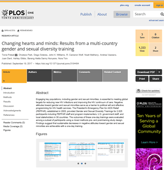 screenshot of PLOS