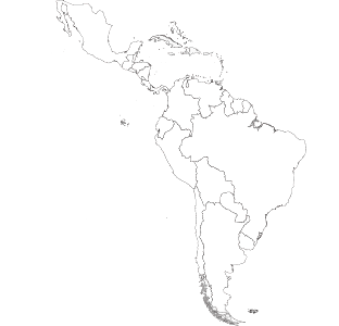 map  of Latin America &amp;<br>the Caribbean