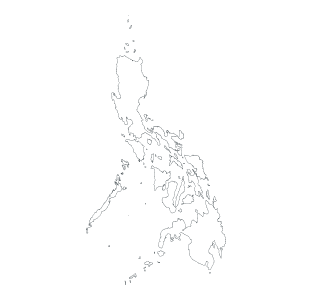 map with Philippines highlighted