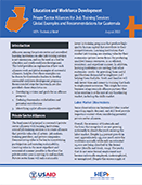 Private Sector Alliances for Job Training Services: Global Examples and Recommendations for Guatemala