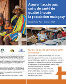 Innovations in Health Financing in Madagascar for Universal Health Coverage