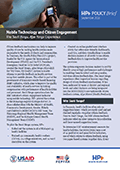 Mobile Technology and Citizen Engagement: The <em> Sauti Yangu, Afya Yangu </em> Experience
