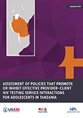 Assessment of Policies that Promote or Inhibit Effective Provider–Client HIV Testing Interactions for Adolescents in Tanzania