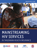 Mainstreaming HIV Services in Tanzanian Health Insurance