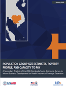 Population Group Size Estimates, Poverty, Profile, and Capacity to Pay