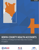 Kenya County Health Accounts: Summary of Findings from Nine Deep-Dive Counties, FY 2016/17