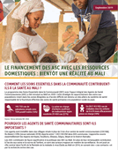 Advocacy Brief: Financing Community Health Workers with Domestic Resources in Mali