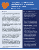 Securing Political Support for Sustainable Domestic Financing for the HIV Response in Cambodia: A Policy Process