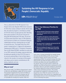Sustaining the HIV Response in Lao People's Democratic Republic