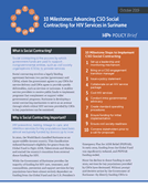 10 Milestones: Advancing CSO Social Contracting for HIV Services in Suriname