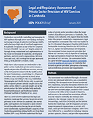 Legal and Regulatory Assessment of Private Sector Provision of HIV Services in Cambodia