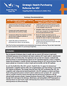Strategic Health Purchasing Reforms for HIV: Targeting Better Outcomes at a Better Price