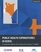 Public Health Expenditures in Kenya: A Comparative Analysis of Seven Deep-Dive Counties, FY 2018/19