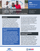 A Model for Making Interministerial Collaboration Work: Implementing Malawi's Youth-Friendly Health Services Strategy