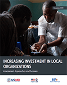 Increasing Investment in Local Organizations: Assessment Approaches and Lessons
