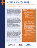 Health Policy Plus: Supporting a Sustainable HIV Response for Children, Adolescents, and Young Adults