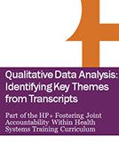 Curriculum for Fostering Joint Accountability Within Health Systems