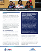 Health and Education Policy Plus: Guatemala