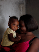 A mother and Child in Haiti, Photo by Dominic Chavez/World Bank